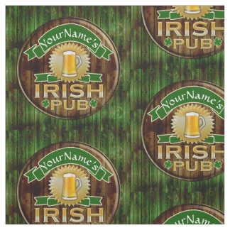Personalized Name Irish Pub Sign St. Patrick's Day Fabric