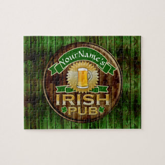 Personalized Name Irish Pub Sign St. Patrick's Day Puzzle