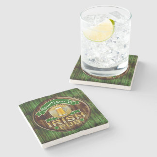 Personalized Name Irish Pub Sign St. Patrick's Day Stone Coaster