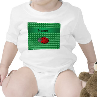 Personalized name ladybug green butterflies tees