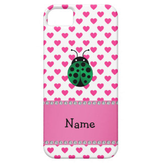 Personalized name ladybug pink hearts polka dots iPhone 5 cover