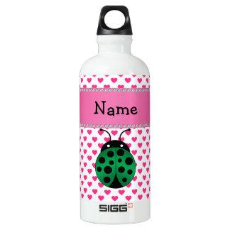 Personalized name ladybug pink hearts polka dots SIGG traveler 0.6L water bottle