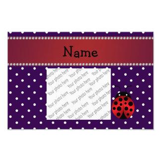 Personalized name ladybug purple polka dots photograph