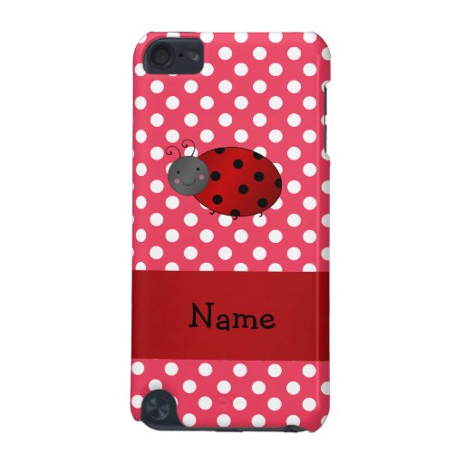 Personalized name ladybug red polka dots iPod touch (5th generation) cases