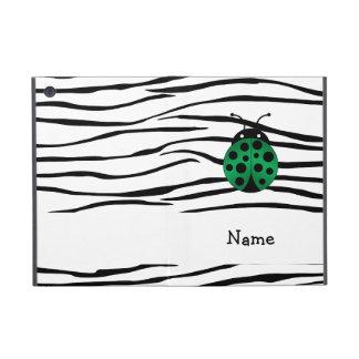 Personalized name ladybug zebra stripes iPad mini cases