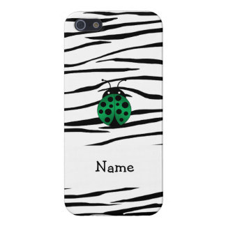 Personalized name ladybug zebra stripes iPhone 5 covers