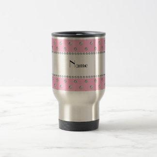Personalized name light pink diamonds coffee mugs