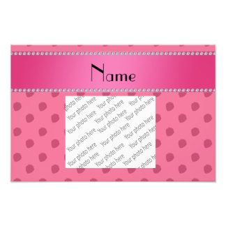 Personalized name light pink strawberries pattern photograph