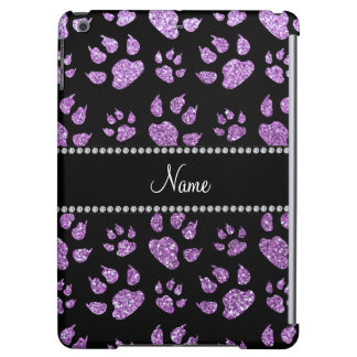 Personalized name light purple glitter cat paws