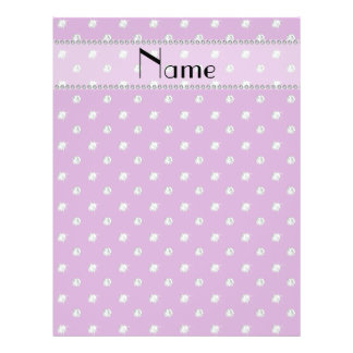 Personalized name lilac purple diamonds personalized flyer