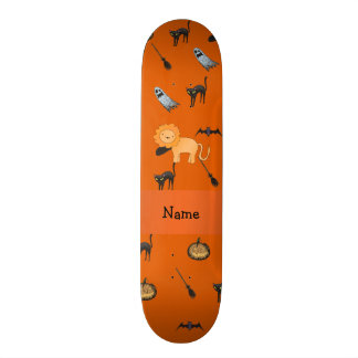 Personalized name lion halloween pattern custom skate board