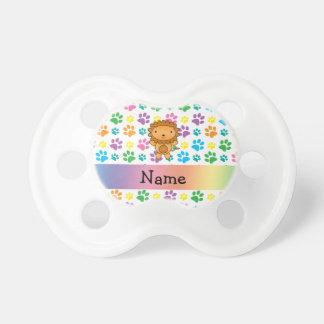 Personalized name lion rainbow paws dummy