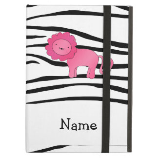 Personalized name lion zebra stripes cover for iPad air