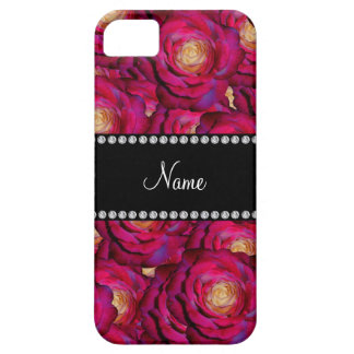 Personalized name Maroon pink roses iPhone 5 Covers