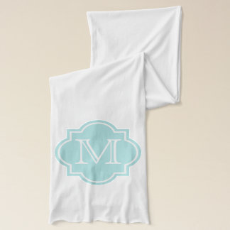 Personalized name monogram M scarf for women