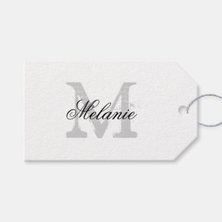 Wedding Gift Name Tags : Personalized name monogram wedding favor gift tags