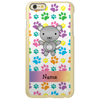 Personalized name mouse rainbow paws incipio feather® shine iPhone 6 plus case