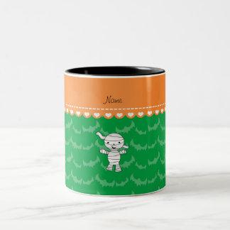 Personalized name mummy green bats coffee mugs