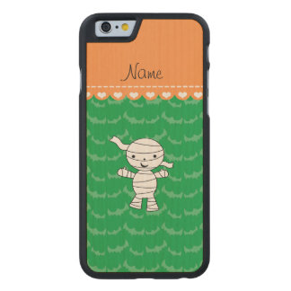 Personalized name mummy green bats carved® maple iPhone 6 case