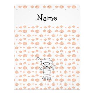 Personalized name mummy orange pumpkins 21.5 cm x 28 cm flyer