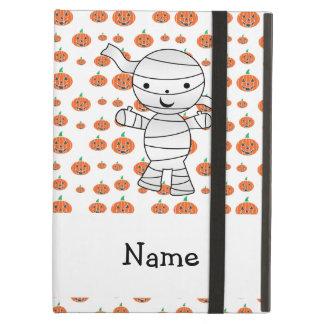 Personalized name mummy orange pumpkins iPad cases