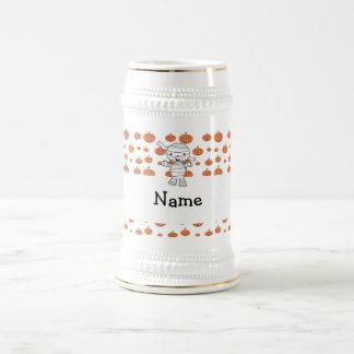 Personalized name mummy orange pumpkins coffee mug