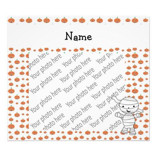 Personalized name mummy orange pumpkins photograph