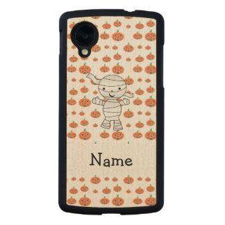 Personalized name mummy orange pumpkins carved® maple nexus 5 slim case