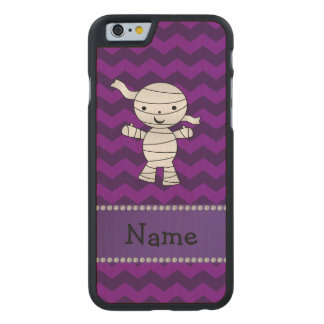 Personalized name mummy purple chevrons carved® maple iPhone 6 slim case