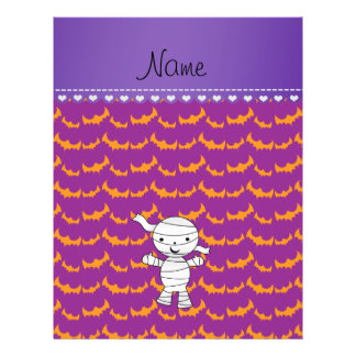 Personalized name mummy purple orange bats 21.5 cm x 28 cm flyer