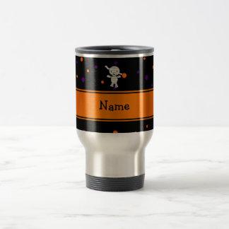 Personalized name mummy purple orange dots coffee mug