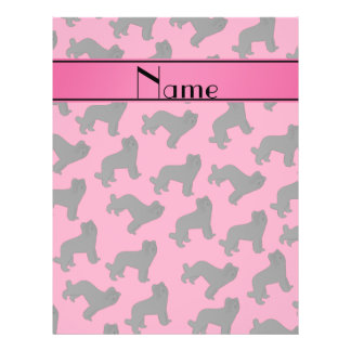Personalized name name pink Briard dog 21.5 Cm X 28 Cm Flyer