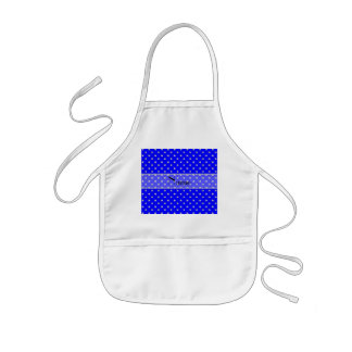 Personalized name neon blue diamonds aprons