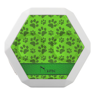 Personalized name neon green dog paws