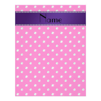 Personalized name neon hot pink diamonds flyers