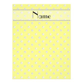 Personalized name neon yellow diamonds flyer design