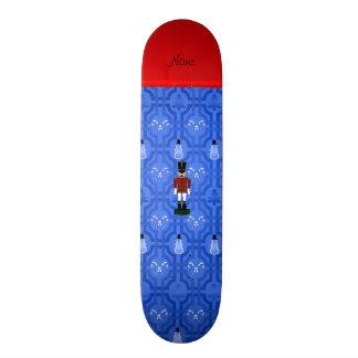 Personalized name nutcracker blue snowman trellis skate board deck