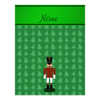 Personalized name nutcracker green Christmas trees 21.5 Cm X 28 Cm Flyer