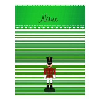 Personalized name nutcracker green stripes flyers