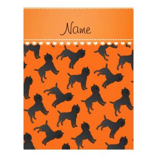 Personalized name orange affenpinscher dogs 21.5 cm x 28 cm flyer