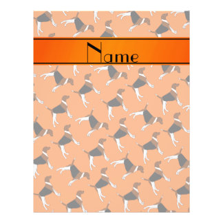 Personalized name orange american foxhound dogs 21.5 cm x 28 cm flyer