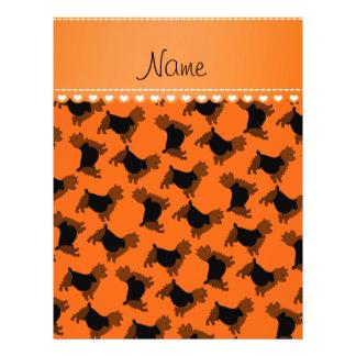 Personalized name orange australian terrier dogs 21.5 cm x 28 cm flyer