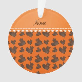 Personalized name orange beaver pattern