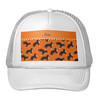 Personalized name orange Bernese Mountain dogs Cap