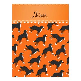 Personalized name orange Bernese Mountain dogs 21.5 Cm X 28 Cm Flyer