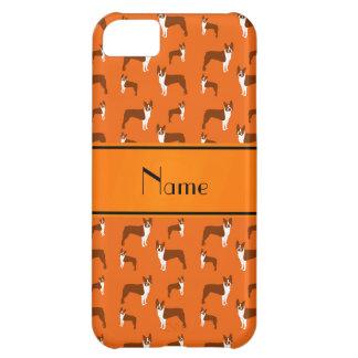 Personalized name orange boston terrier iPhone 5C case