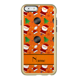 Personalized name orange bowling christmas pattern incipio feather® shine iPhone 6 case