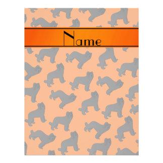 Personalized name orange Briard dog 21.5 Cm X 28 Cm Flyer