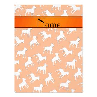 Personalized name orange bull terrier dogs 21.5 cm x 28 cm flyer