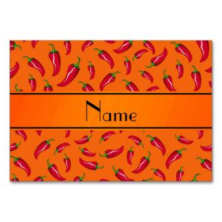 Personalized name orange chili pepper card